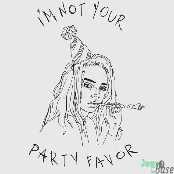 Billie Eilish Party Favor