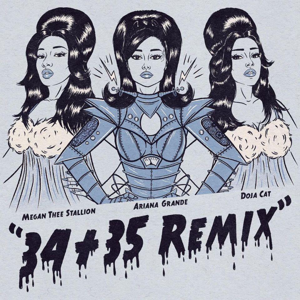 Ariana Grande Ft. Megan thee Stallion & Doja Cat – 34 + 35 (Remix)